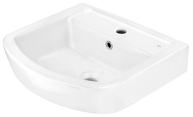 Cornat ONDO Waschtisch mit clean plus Oberfläche, 50 cm, weiß