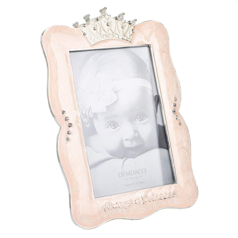 "DEMDACO Crown Photo Frame Always A Princess 4/""x6/"""