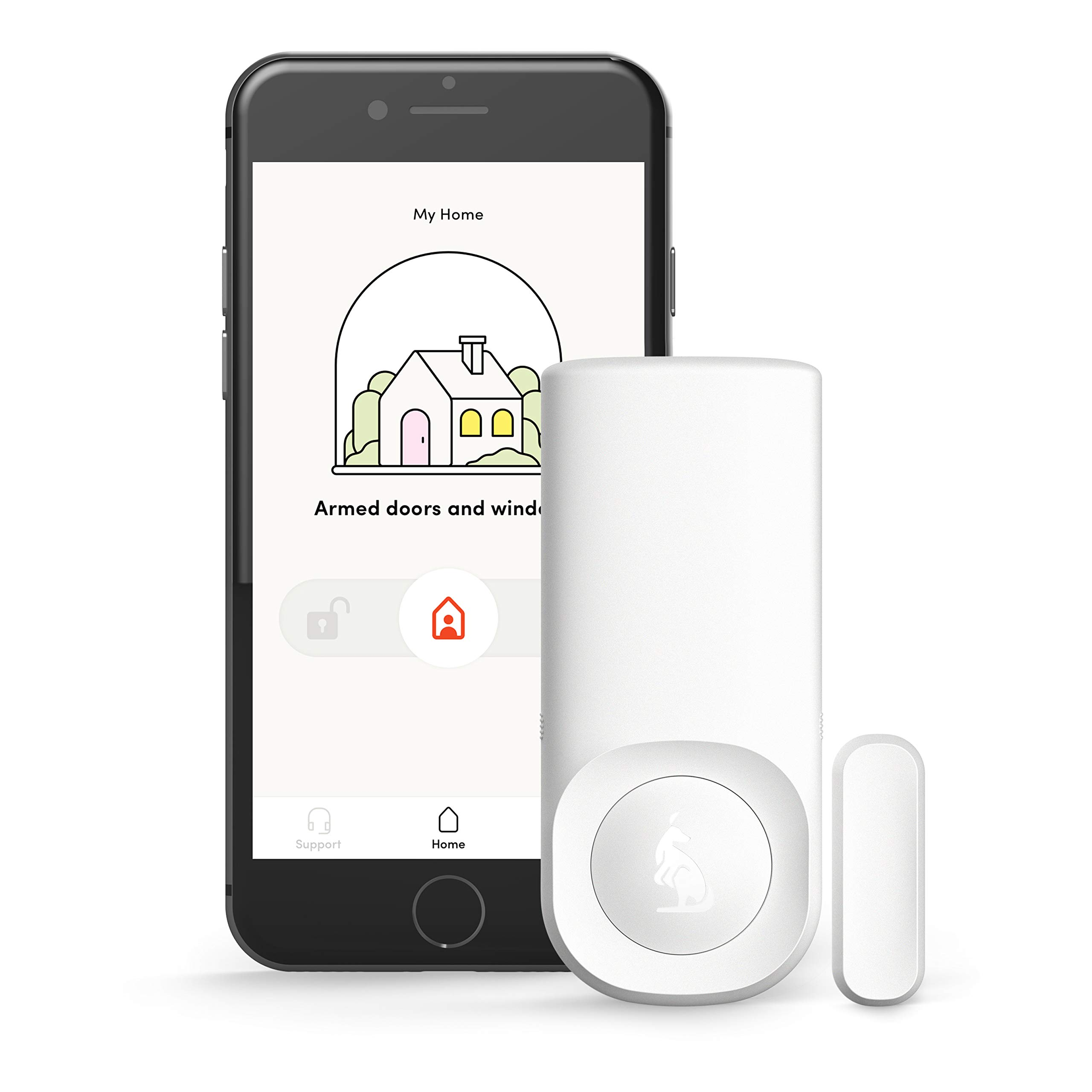 Kangaroo Home Security Motion + Entry Sensor (1 Pack, Free Plan) by KANGAROO