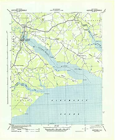 Amazon Com Yellowmaps Hertford Nc Topo Map 1 62500 Scale 15 X 15