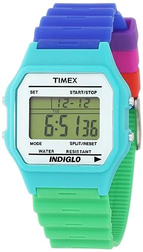 71ef1820be15 Timex Reloj de Cuarzo T80 Classic Azul Verde 34 mm  Amazon.es  Relojes