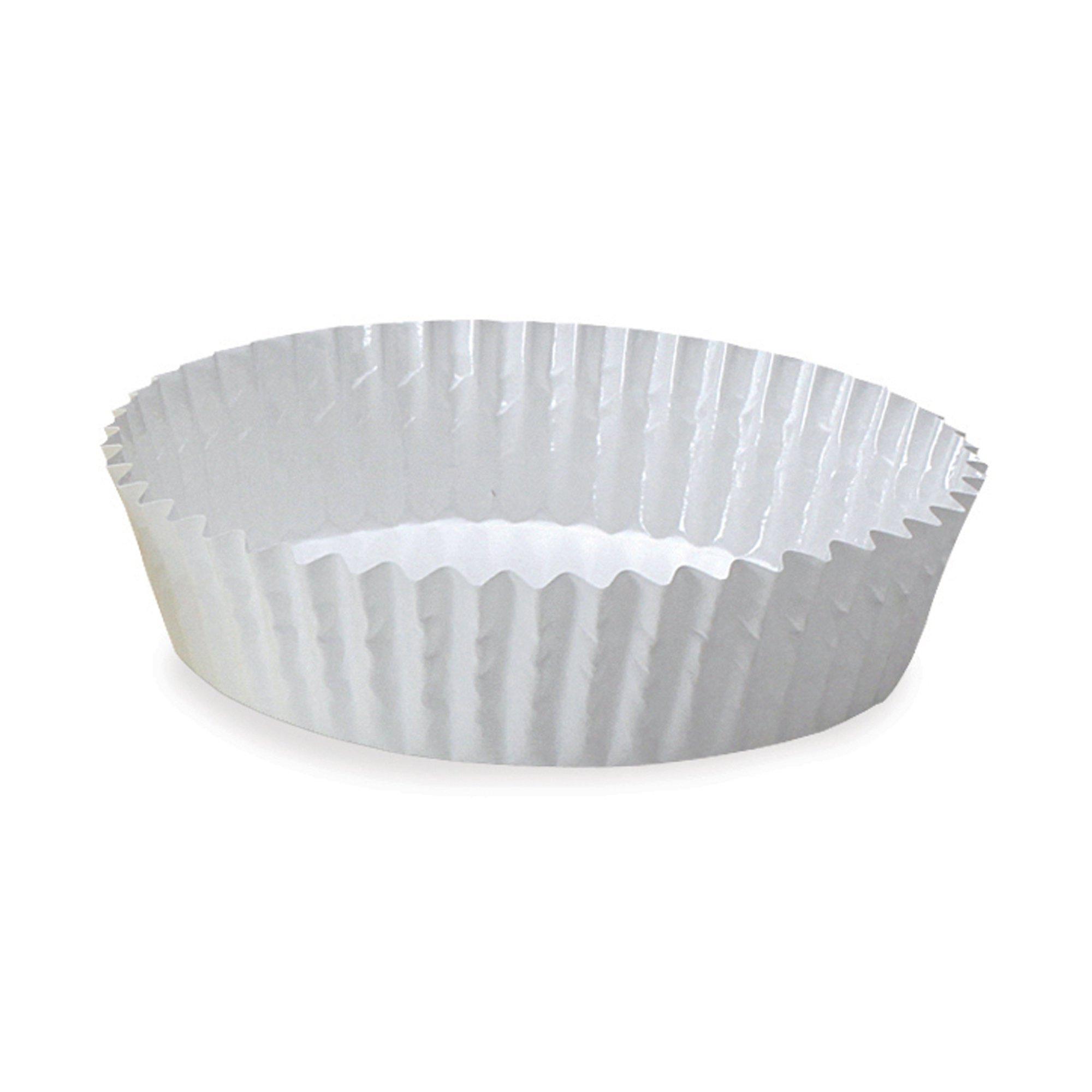 Welcome Home Brands Ruffled Baking Cups, Baker's White, 3.9''d x 1.2''h, Case/4500