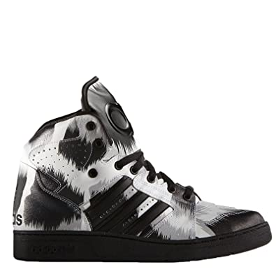 adidas Originals Men's Jeremy Scott Instinct High Leopard Trainers - Black  - 11UK