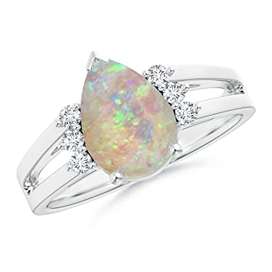 Angara Criss Cross Pear Shaped Citrine Ring with Diamond Accents in Platinum JvC6OW4AFG