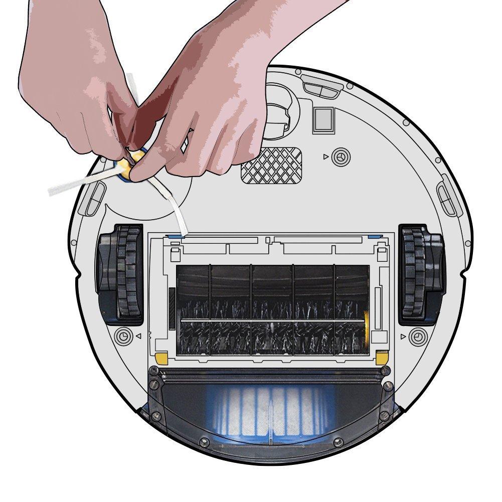 ... Cepillos Repuestos para iRobot Roomba Serie 600 - Kit de 10 Piezas Accesorios(Cepillos Lateral, Filtros, Cepillo de Cerda y etc..) para Aspirador Robot.