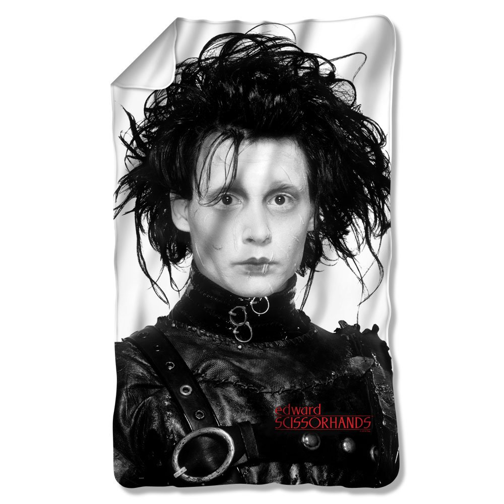 Edward Scissorhands Dark Romantic Fantasy Movie Edward Portrait Fleece Blanket