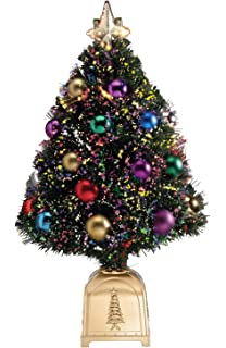 Amazon Com National Tree 36 Inch Fiber Optic Ornament Fireworks  - 36 Fiber Optic Christmas Tree