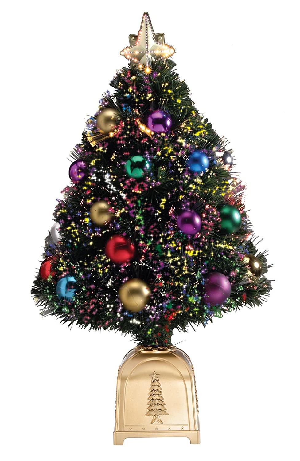 Amazon Com WalterDrake Fiber Optic Christmas Tree By Northwoods  - 36 Fiber Optic Christmas Tree