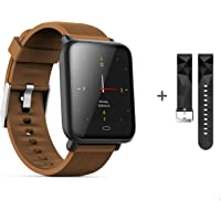 kkcite Bluetooth Smart Watches, Waterproof Fitness Tracker Smart Watch with Heart Rate/Blood/Pressure/Sleep Monitor Compatible with Android/iOS/Samsung Phones for Men Women Kids