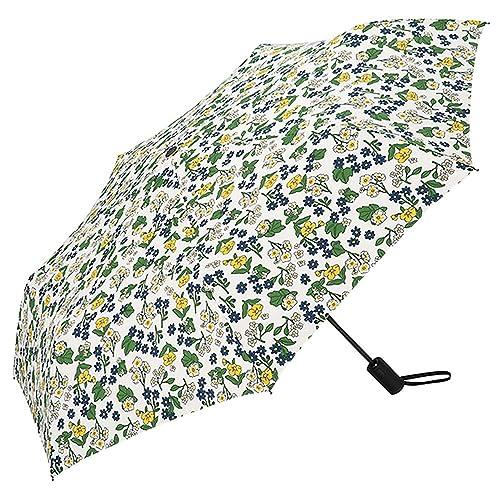 Agedate 折りたたみ傘は優れた撥水性が特徴。生地の素材にテフロン加工が施されており、水滴が落ちやすい。スマートに使えるため、ビジネスシーンでの使用にもおすすめ。12本の骨で支える構造で、耐久性もある。長く使い続けられる1本。