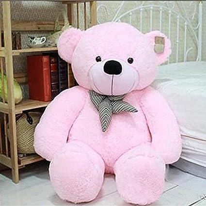 CLICK4DEAL Cotton Long Huge Loveable Hugable Playable Soft Teddy Bear (Pink, Large)