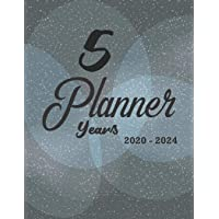 5 years planner 2020-2024: 60 Months Calendar Monthly