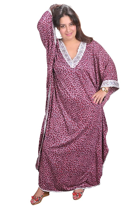 Eleganter Damen Kaftan Kleid im Butterfly Look Sommer Urlaub Hauskleid KA01163