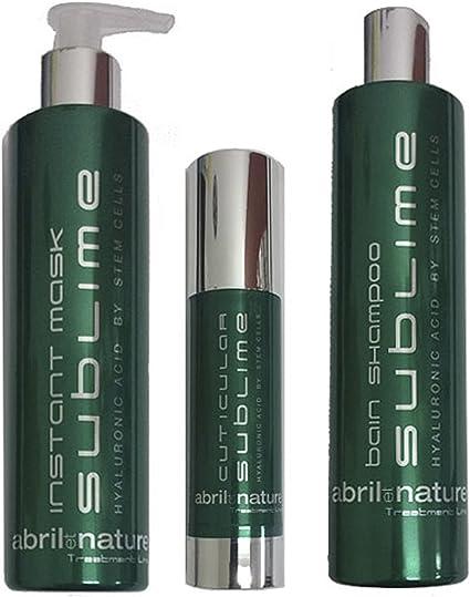 Abril et Nature Sublime Pack Treatment 3 Productos Celulas Madre Y Acido Hialuronico: Amazon.es: Belleza