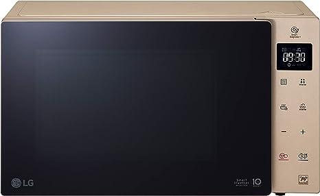 Opinión sobre LG MH6535GISA Grill Smart Inverter Microondas 1000 W, Grill 900 W, Micro+Grill 1450 W, 25 litros de capacidad, Display LED, Plato interior 292 mm, Ash Blonde
