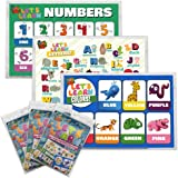 Disposable Placemats by Baby Phd - Baby Placemat - Taple Top Mats for Children - Extra Sticky Adhesive Peel and Stick Strips - 60 Count (3 Packs of 20) - 3 Separate Educational Designs