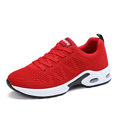 JARLIF Women's Breathable Fashion Walking Sneakers Lightweight Athletic Tennis Running Shoes US5.5-10 | Walking