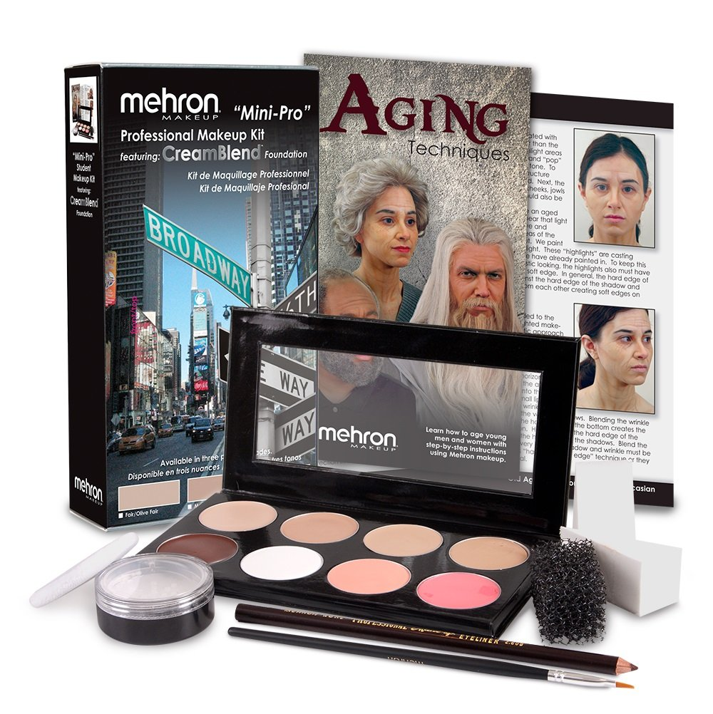 Mehron Mini-Pro Theatrical Kits Fair Complexion KMP-F by Mehron
