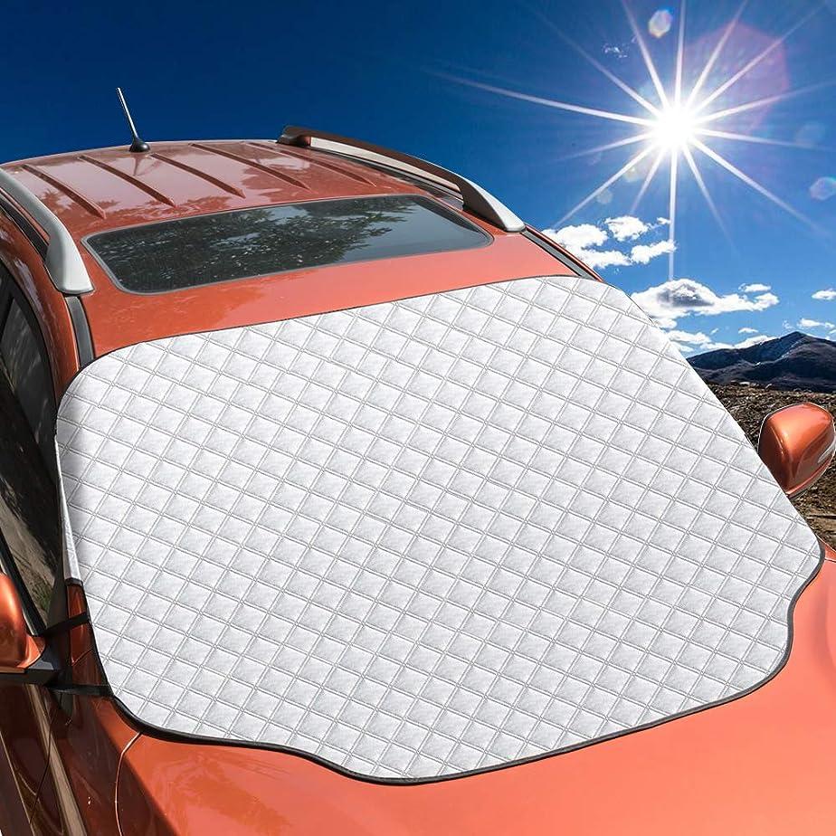 排除過去マチュピチュ車用遮光サンシェード フロントガラス 日よけサンシェード フロントカバー 日焼け防止 防水 厚手 サンシェード 四季用 簡単取付 145*99cm 普通車/軽自動車/SUVに適用