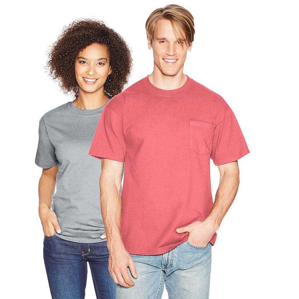 Hanes Beefy-T Men`s Pocket T-Shirt Hanes Men' s Athletic Child Code 5190