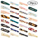 Keopel 30pcs Resin Hair Clips Set, Acrylic Alligator Clips Hair Accessories Leopard Print Hair Barrettes for Women (Color: Multicolor)