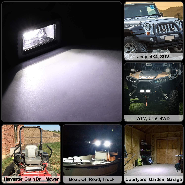 YEEGO 5 Offroad Lampe Quad Row Projecteur Phare LED 2PCS Barres de Travail LED pour Voiture Hors Route VUS UTV Phares de Travail Led VTT Camionnette