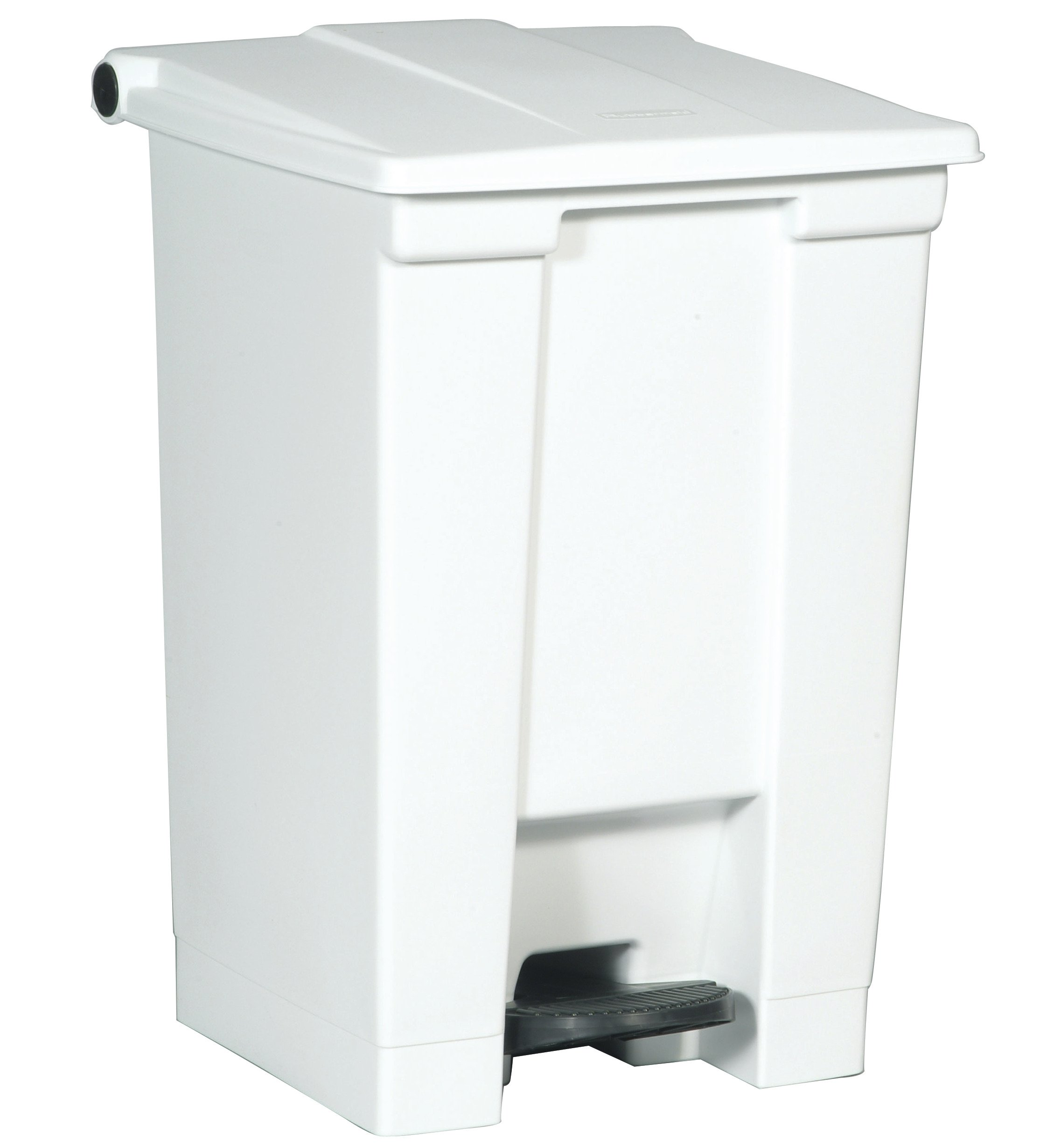 Rubbermaid Commercial Slim Jim Front Step On Trash Can, White, 12 Gallon