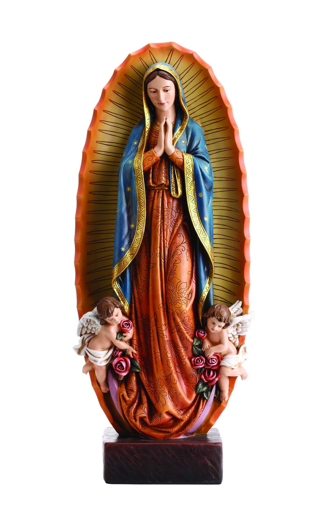 Our Lady Virgen De Guadalupe Resin Statue, 23 1/2 Inch by Avalon Gallery