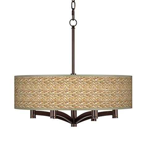 Amazon.com: Seagrass Ava 6-Light Bronce Colgante Lámpara De ...