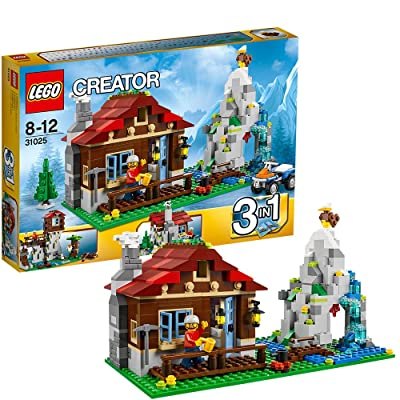 LEGO CREATOR 3-in-1 Mountain Hut 550 Piece Kids Building Playset | 31025: Toys & Games