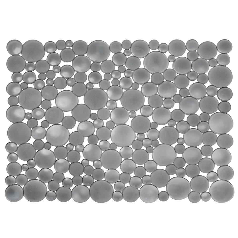 InterDesign Bubbli Tappetino Lavello, Grande, Vinile, Grigio, 30.5x39.5x0.25 cm 09253