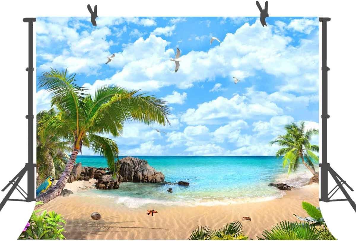 10x6.5ft Background Beach Photography Backdrop Photo Studio Props Wall Murals LHFU127