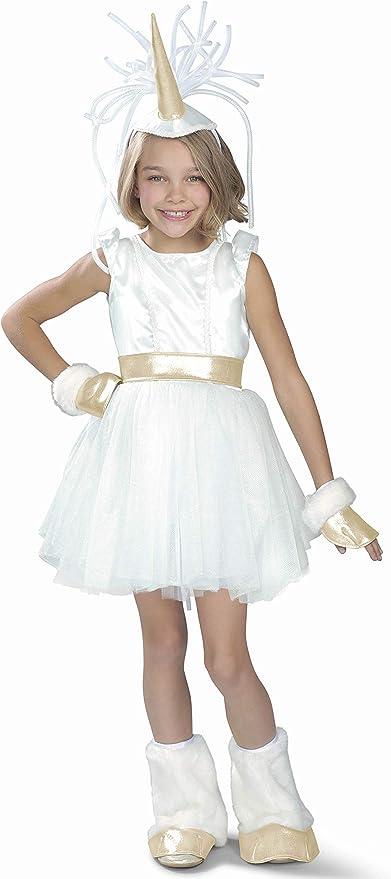 Unique Girls/' Deluxe Rainbow Unicorn Costume Great Everyday Dress-Up.