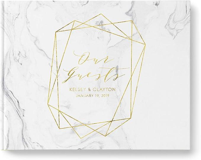 SALE 50/% Off Canvas Guest Book Anniversary Gift for Parents GB215 Signature Poster Wedding EST Elegant Gold Foil Wedding Guest Book