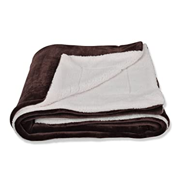 SOCHOW Sherpa Fleece Throw Blanket, Double-Sided Super Soft Luxurious Plush Blanket Throw Size, Brown