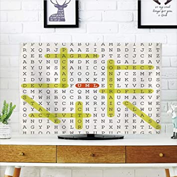 Amazon com: VAMIX LCD TV Cover Lovely,Word Search Puzzle