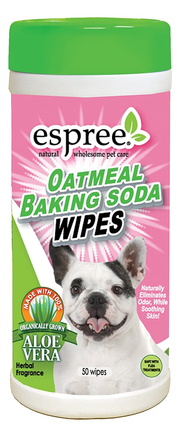 Espree Natural Oatmeal Baking Soda Wipes 50 Pkg-Herbal