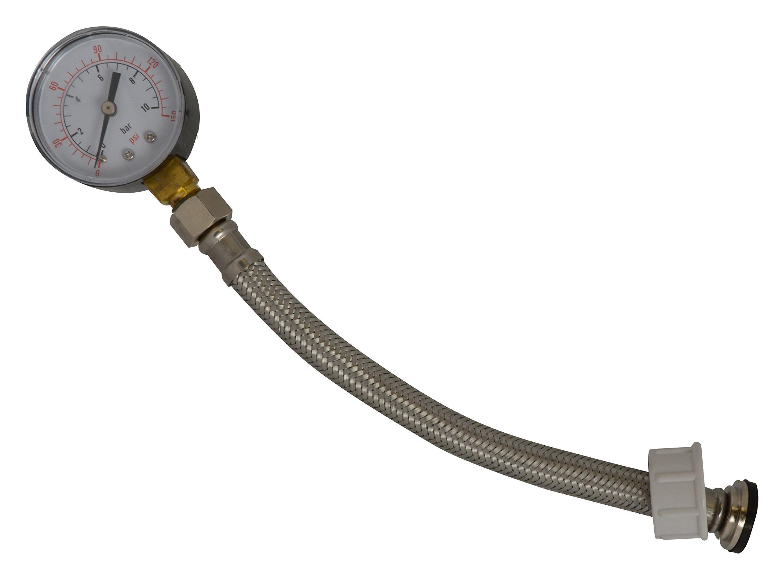 Dickie Dyer 884712 Water Pressure Gauge 3/4'' Bsp 0-11bar / 160psi - 11.091