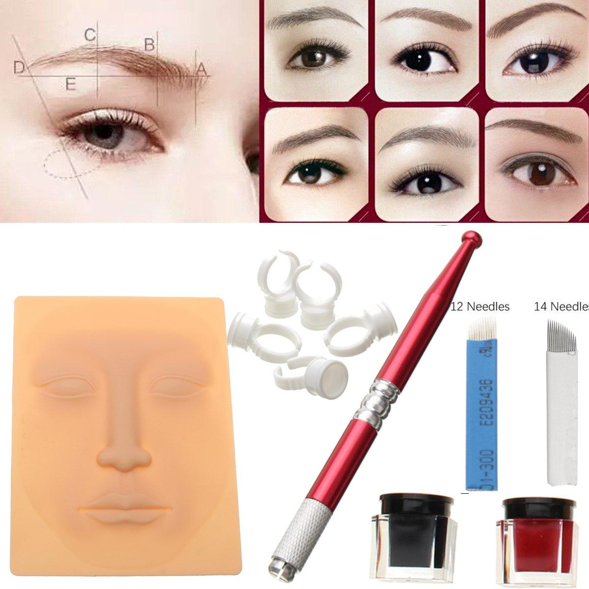 Amazon.com: Microblading Kit Eyebrow Tattoo Permanent Makeup Set ...