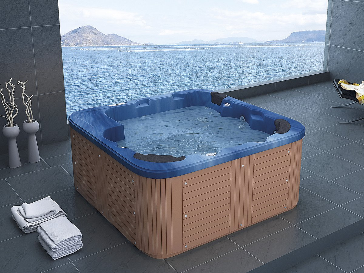 Outdoor Whirlpool Hot Tub Troy Spa With 44 Massage: Amazon.co.uk ...