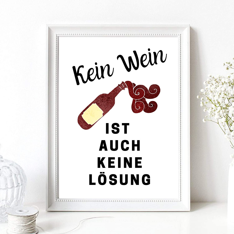 Save Water Drink Wine Spruch Wein Weinflasche K/üche Esszimmer Druck Poster Bild Din A4 Kunstdruck ohne Rahmen