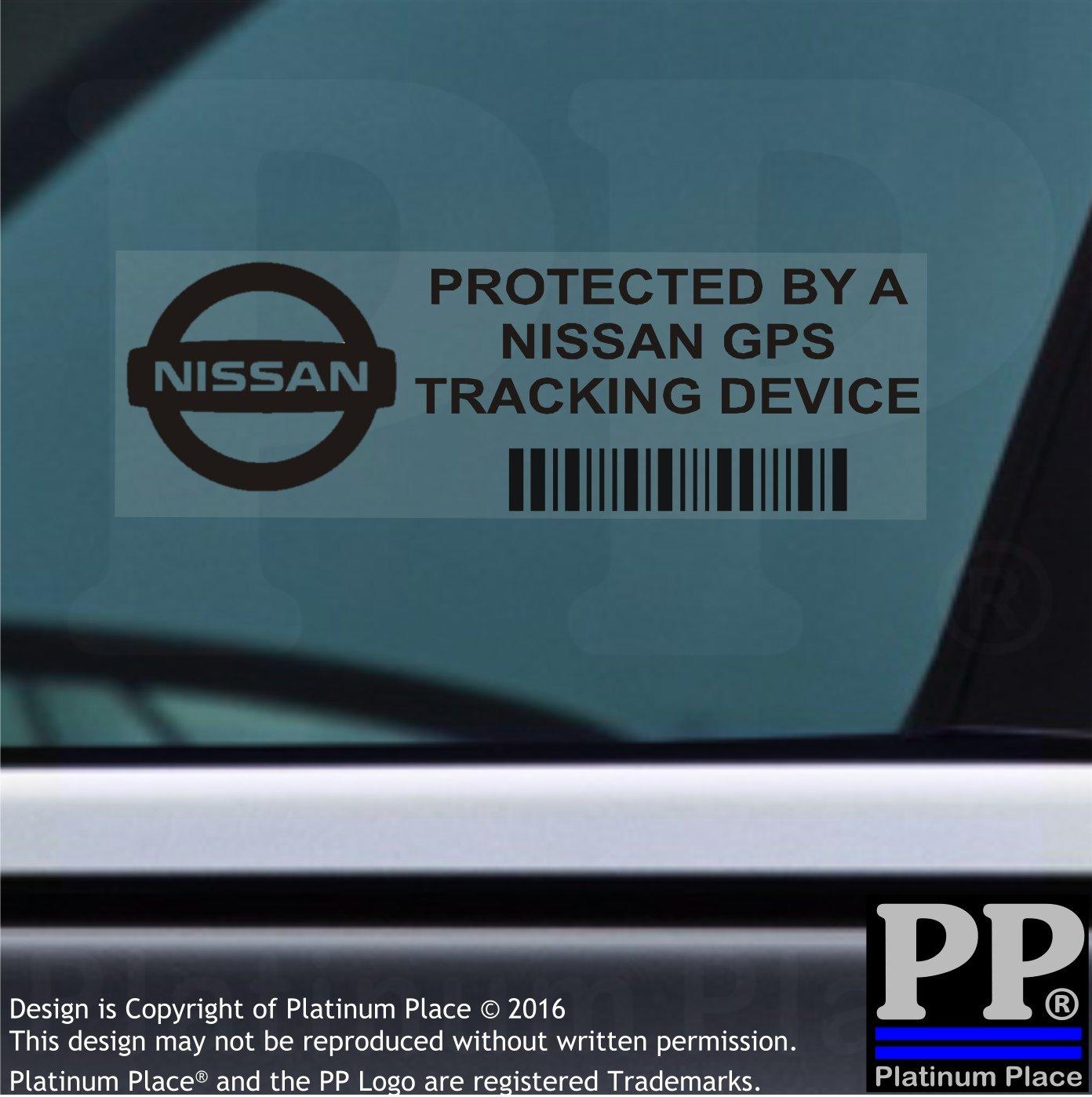 Van alarma Tracker 5/x ppnissangpsblk GPS negro dispositivo de seguimiento de seguridad ventana pegatinas 87/x 30/mm-car