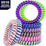 The Mosquito Company, Mosquito Band's, Set of 10 Insect Repellent Bracelet's, Double Coil/Double Strength 2018 second Generation, 250+ Hours of Protection. Deet Free
