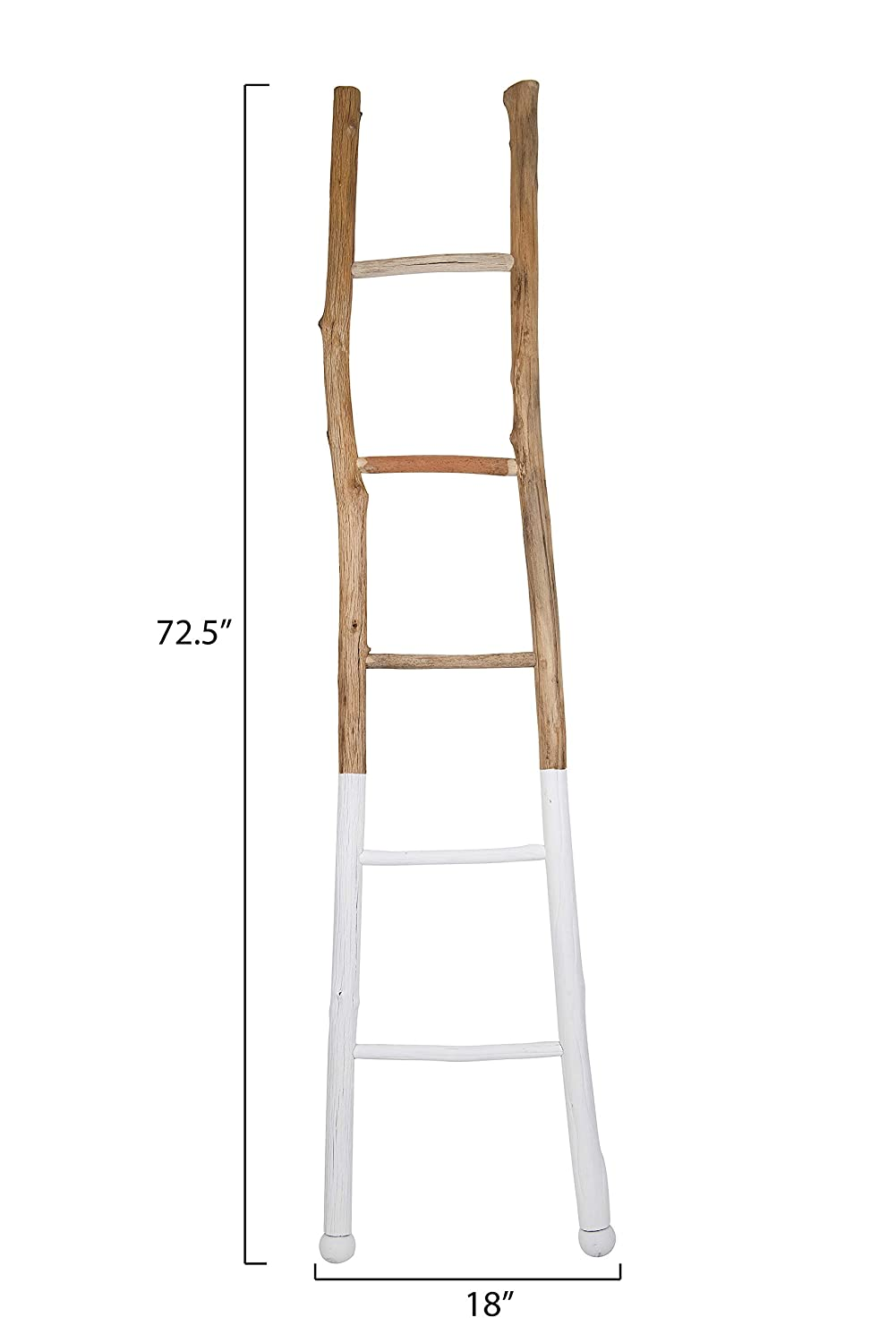Awesome Creative Co Op Dipped Decorative Wood Ladder White Gmtry Best Dining Table And Chair Ideas Images Gmtryco