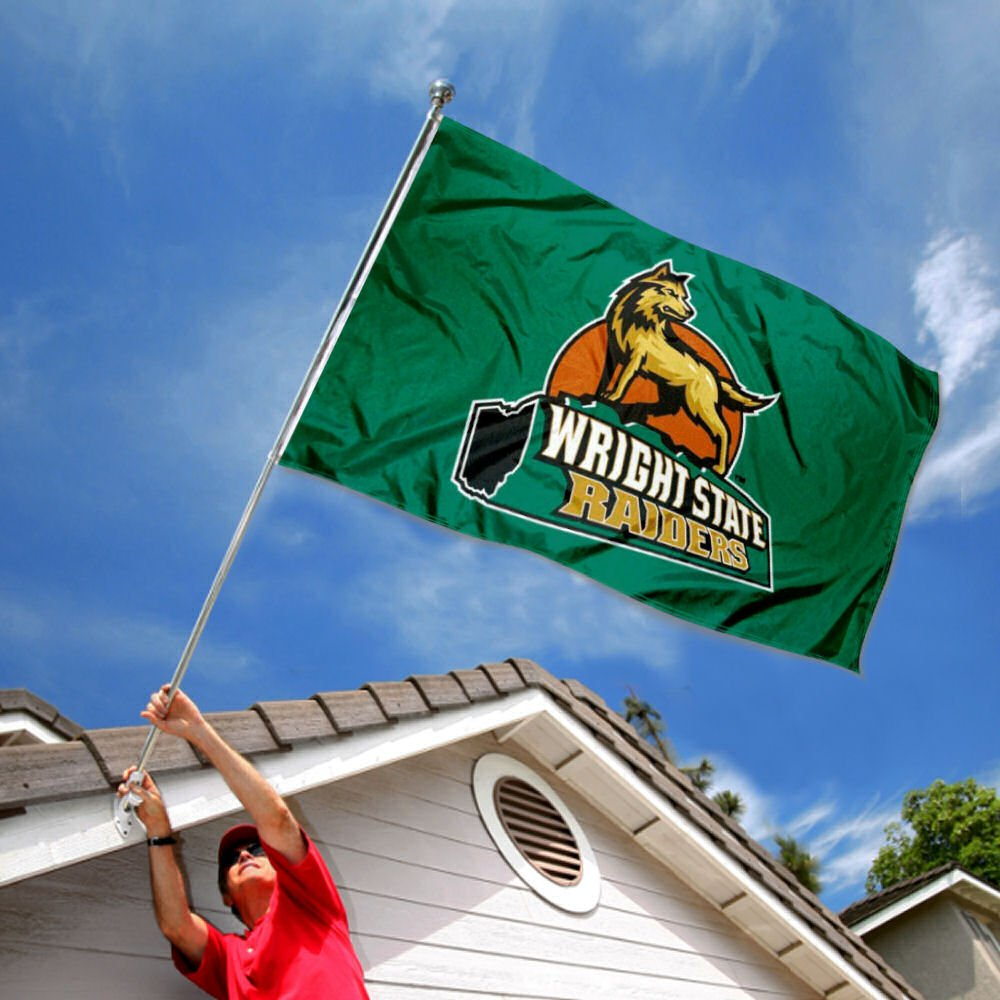 College Flags and Banners Co Wright State Raiders Flag