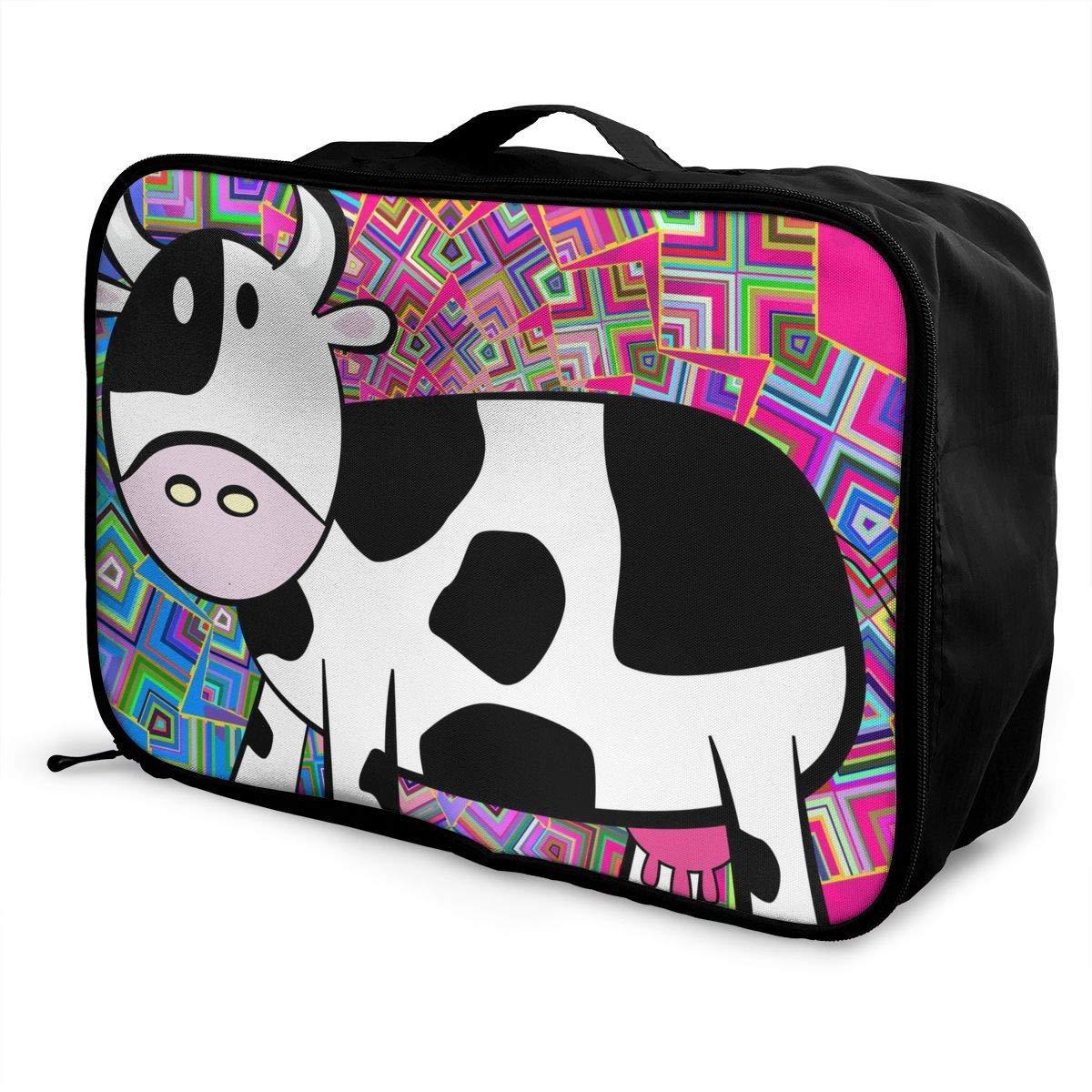 Lightweight Large Capacity Portable Duffel Bag for Men /& Women Cartoon Milk Cow Travel Duffel Bag Backpack JTRVW Luggage Bags for Travel
