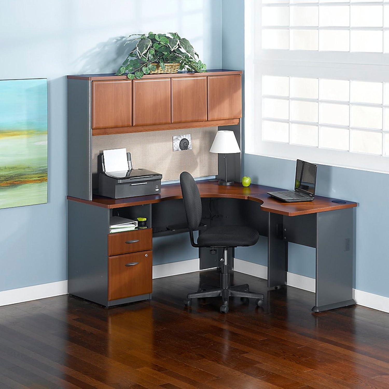 series corner desk. Amazon.com : Bush Beech Series A Expandable Single Pedestal Corner Desk (B/F) Office Desks Products