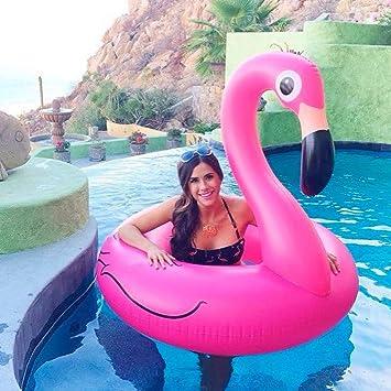 Alta calidad Piscina de flotación Cama flotante Anillo inflable de la natación del agua del verano del flamenco, flotador ...