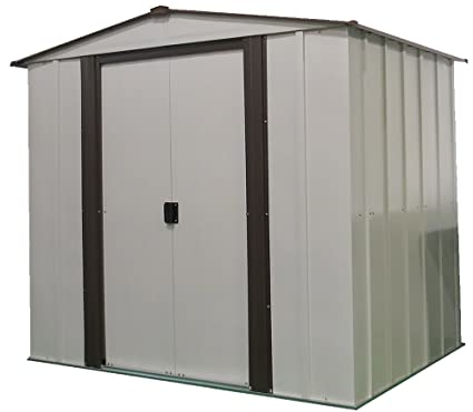 Arrow Newburgh Low Gable Steel Storage Shed Coffee/Eggshell 6 x 5 ft  sc 1 st  Amazon.com : 5 x 6 storage shed  - Aquiesqueretaro.Com
