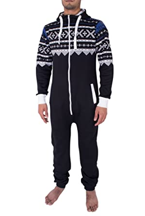 a53dc194998d Noroze Mens Hoodie Jumpsuit Onesie One Piece Pajamas at Amazon Men s ...